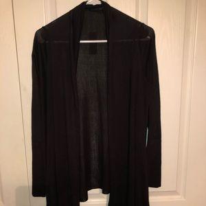 High low black cardigan